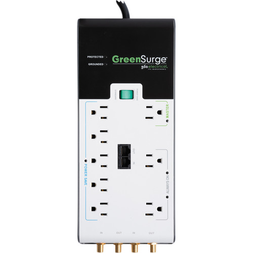 360 Electrical 8 Outlet GreenSurge Protector