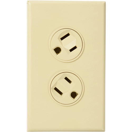 360 Electrical Rotating Duplex Outlet (Almond)