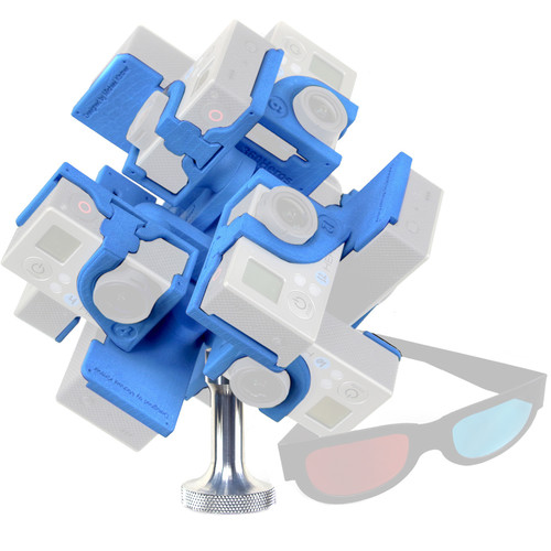 360RIZE 3DPRO12 Stereoscopic 3D 360° Plug-n-Play Holder for GoPro HERO4/3+/3