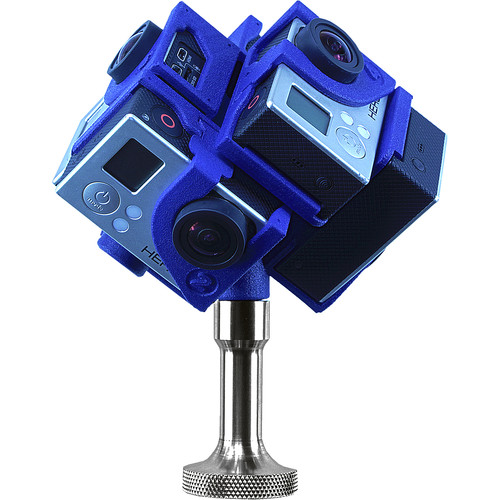 360RIZE Pro6 360° Plug-n-Play Holder for GoPro with Mount/Stand