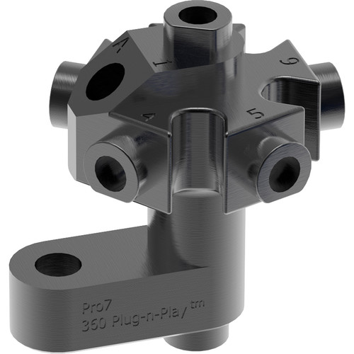 360RIZE Pro7 Center Core for 7-Camera 360 Plug-n-Play Video Rig