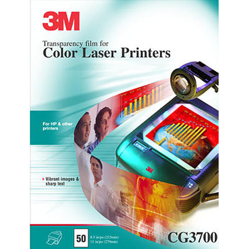 3M CG3700 Transparency Film for Color Lasers / 50 Per Box