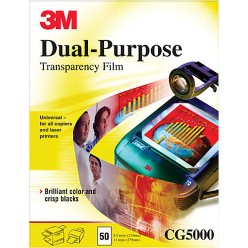 3M CG5000 Dual-Purpose Transparency Film / 50 Per Box