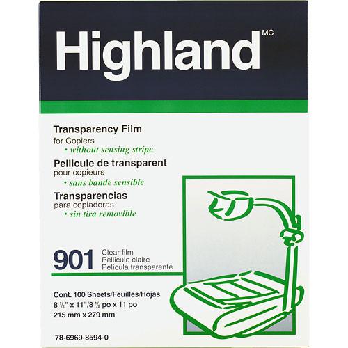 "3M 901 Tartan Transparency Film, 4mil - 8.5 x 11""  (100 Sheets) (Trilingual Packaging)"