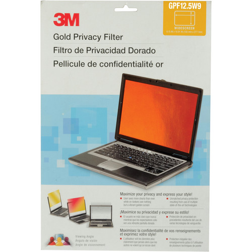 """3M Widescreen Notebook Gold Privacy Filter (12.5"""")"""
