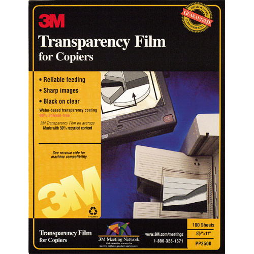 "3M Transparency Film - No Stripe - 8.5 x 11"""