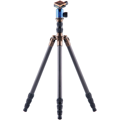 3 Legged Thing Eric 4 Section Evolution 2 Carbon Fiber Tripod System with AirHed 1 Ball Head (Blue)