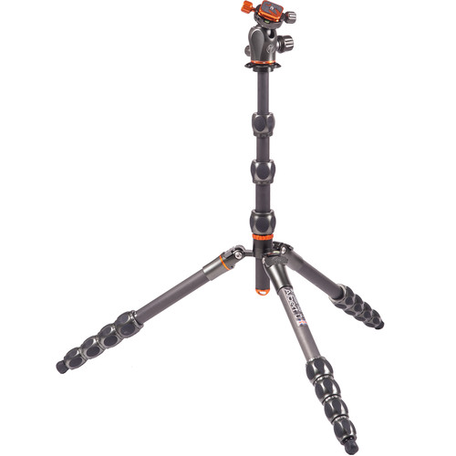 3 Legged Thing Eclipse Albert Carbon Fiber Travel Tripod with AirHed 360 Ball Head (Gunmetal Gray)