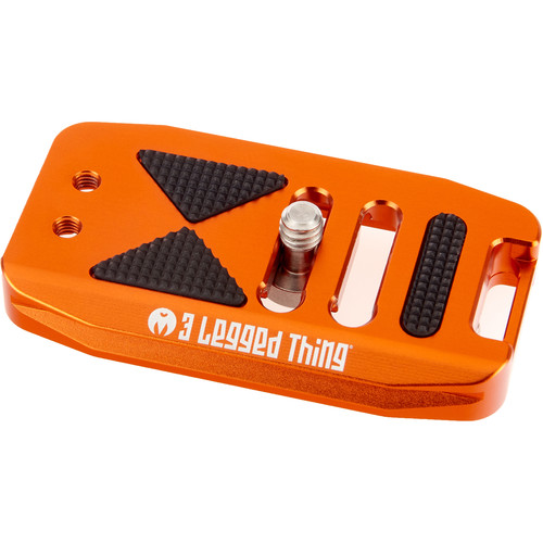 3 Legged Thing BASE70 Arca-Swiss Compatible 70mm Wide Quick Release Plate (Copper/Orange)