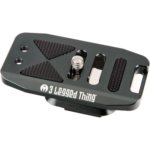 3 Legged Thing Base70 PD Arca Swiss and Capture Compatible 70mm Wide Quick Release Plate (Metallic Slate Grey)