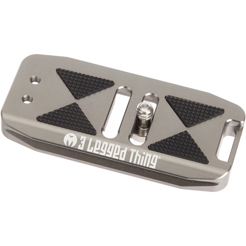 3 Legged Thing BASE85 Arca-Swiss Compatible 85mm Wide Quick Release Plate (Metallic Slate/Gray)