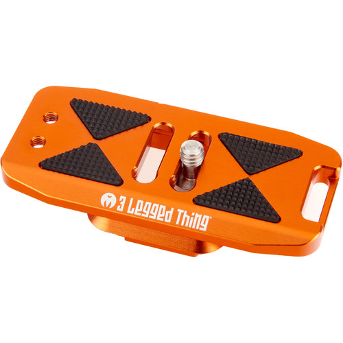 3 Legged Thing BASE85 PD Arca-Swiss & Capture v3 Compatible 85mm Wide Quick Release Plate (Copper/Orange)
