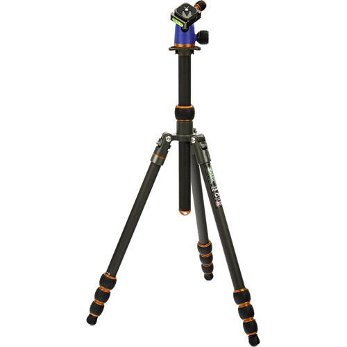 3 Legged Thing Punks Series Billy Carbon Fiber Tripod with AirHed Neo Ball Head (Blue and Orange)