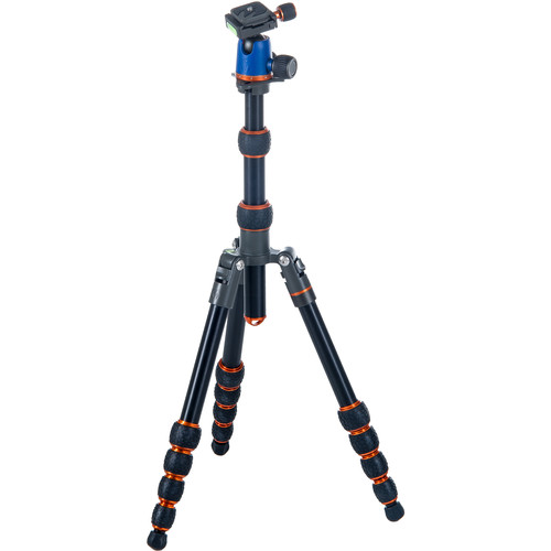 3 Legged Thing Corey Magnesium Travel Tripod with AirHed Neo Ball Head (Blue and Orange)
