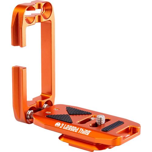 3 Legged Thing Ellie-PDShort Universal L-Bracket with Peak Design Capture-Compatible Base (Copper/Orange)