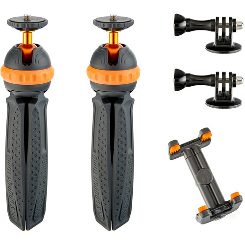 3 Legged Thing 2 x Iggy Mini Action Tripods with GoPro Adapters and Universal Phone Cradle Kit