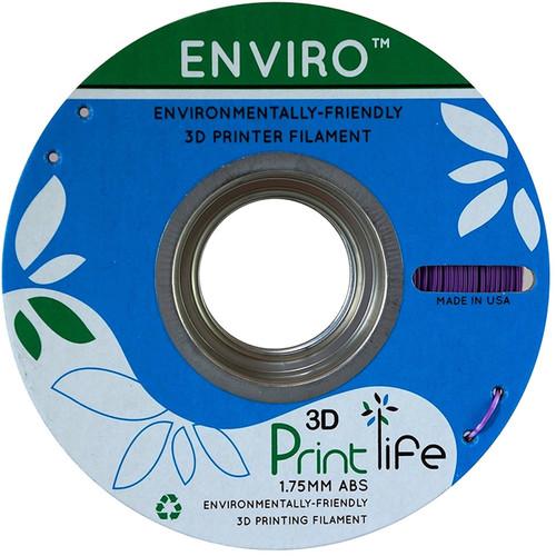 3D Printlife Enviro 1.75mm ABS 3D Printer Filament (Purple)