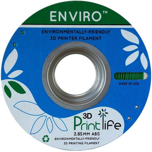 3D Printlife Enviro 2.85mm ABS 3D Printer Filament (Green)