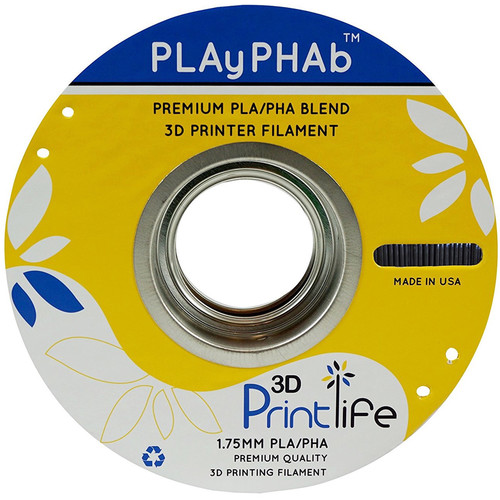 3D Printlife PLAyPHAb 1.75mm PLA/PHA Filament (Black)