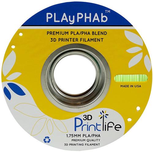 3D Printlife PLAyPHAb 1.75mm PLA/PHA Filament (Light Green)