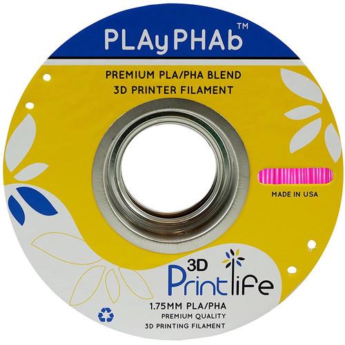 3D Printlife PLAyPHAb 1.75mm PLA/PHA Filament (Pink)