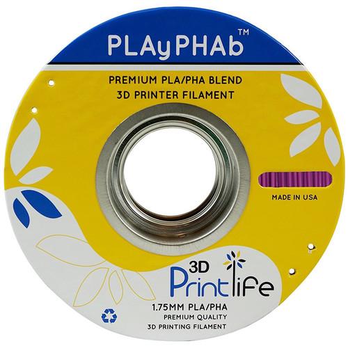3D Printlife PLAyPHAb 1.75mm PLA/PHA Filament (Purple)