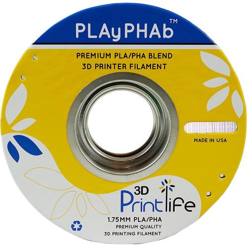 3D Printlife PLAyPHAb 1.75mm PLA/PHA Filament (White)
