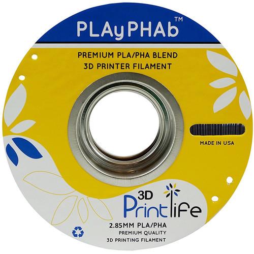 3D Printlife PLAyPHAb 2.85mm PLA/PHA Filament (Black)