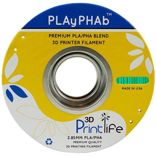 3D Printlife PLAyPHAb 2.85mm PLA/PHA Filament (Green)