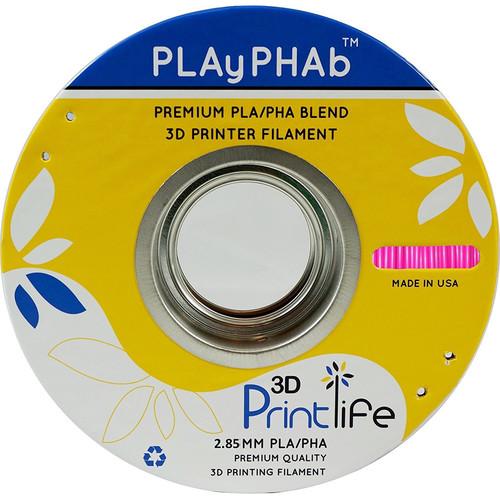 3D Printlife PLAyPHAb 2.85mm PLA/PHA Filament (Pink)
