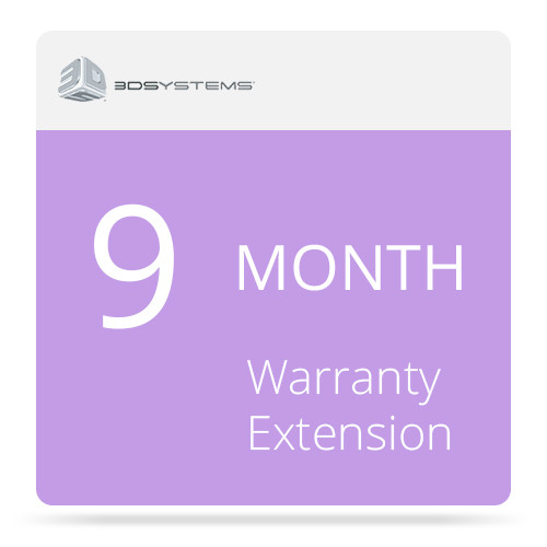 3D Systems 9-Month Warranty Extension for the Cube 3 3D Printer