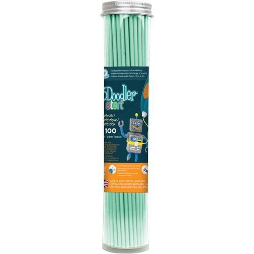 3Doodler Start Single Color Plastic Pack (Aqua Mint, 100 Strands)