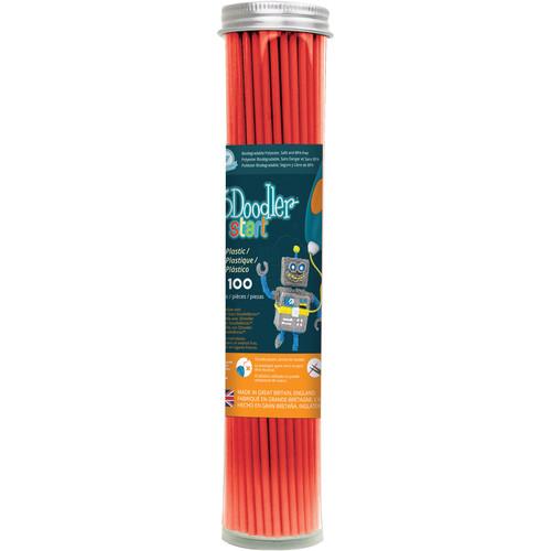 3Doodler Start Single Color Plastic Pack (Cherry Red, 100 Strands)