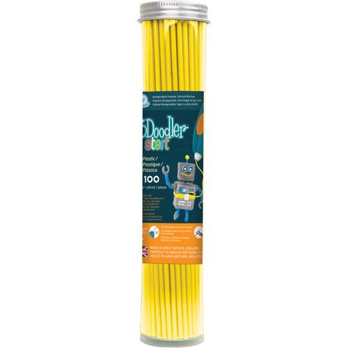 3Doodler Start Single Color Plastic Pack (Lemon Zest, 100 Strands)