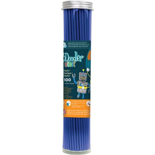 3Doodler Start Single Color Plastic Pack (Ocean Blue, 100 Strands)
