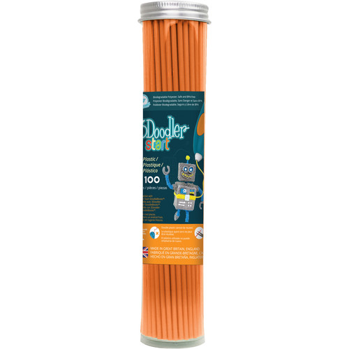 3Doodler Start Single Color Plastic Pack (Tangerine Tang, 100 Strands)
