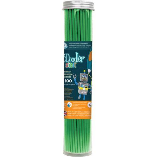 3Doodler Start Single Color Plastic Pack (Spring Green, 100 Strands)
