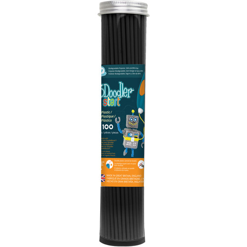 3Doodler Eco-Plastic Filament (Charcoal Black, 100 Strands)