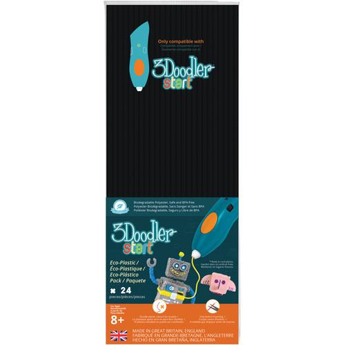 3Doodler Start Single Color Plastic Pack (Black, 24 Strands)