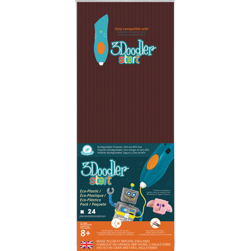 3Doodler Start Single Color Plastic Pack (Woodland Brown, 24 Strands)