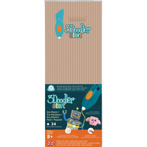 3Doodler Start Single Color Plastic Pack (Beige, 24 Strands)