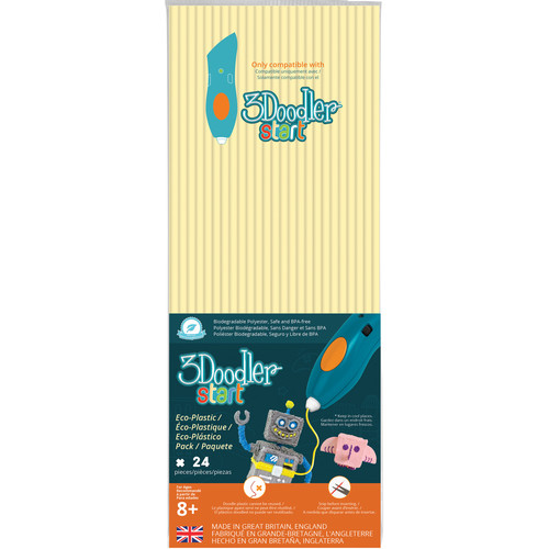 3Doodler Start Single Color Plastic Pack (Peaches and Cream, 24 Strands)