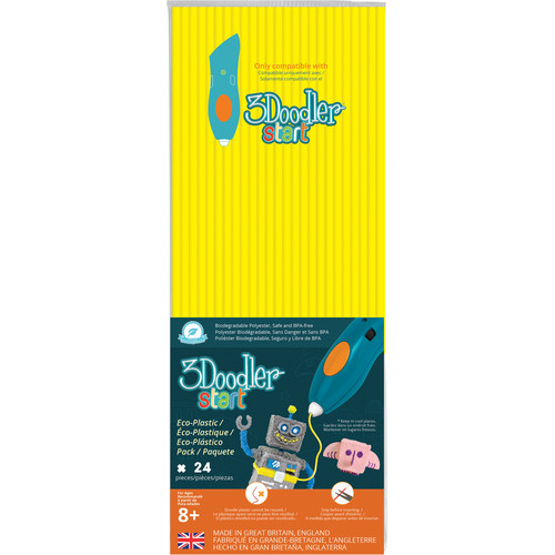 3Doodler Start Single Color Plastic Pack (Neon Yellow, 24 Strands)
