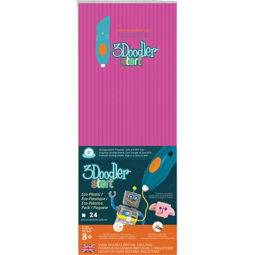 3Doodler Start Single Color Plastic Pack (Neon Pink, 24 Strands)