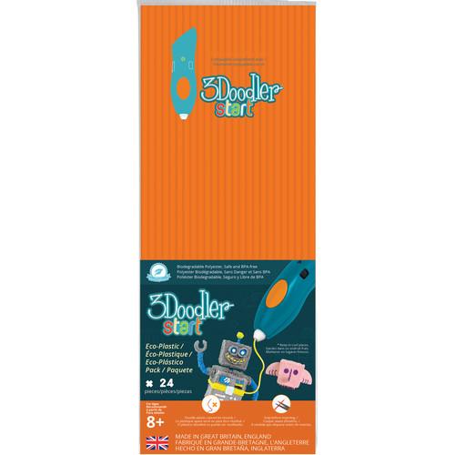 3Doodler Start Single Color Plastic Pack (Neon Orange, 24 Strands)