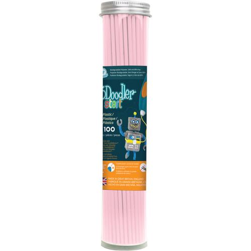 3Doodler Eco-Plastic Filament (Pastel Pink, 100 Strands)