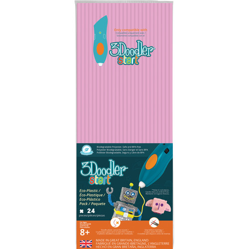 3Doodler Start Single Color Plastic Pack (Pastel Pink, 24 Strands)