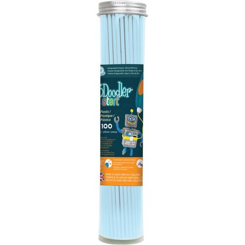 3Doodler Eco-Plastic Filament (Pastel Blue, 100 Strands)