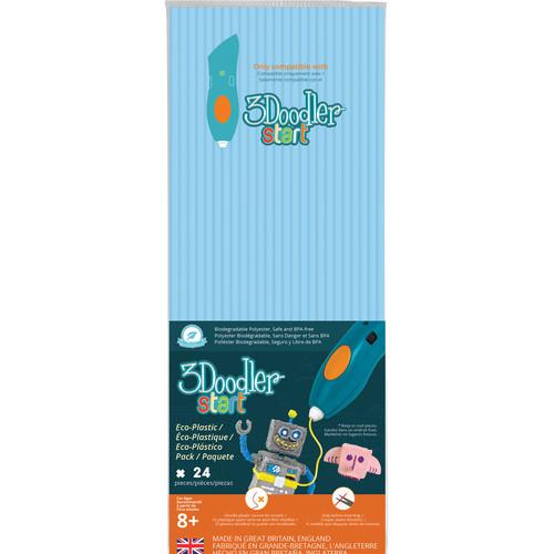 3Doodler Start Single Color Plastic Pack (Pastel Blue, 24 Strands)