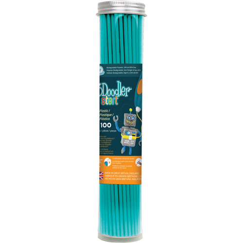3Doodler Eco-Plastic Filament (Terrific Teal, 100 Strands)